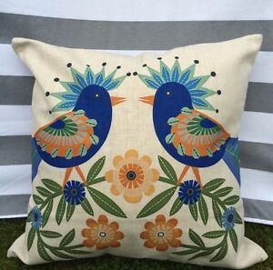 Bird Pattern Cushion Cover, Designer, Retro, 1960s, 1970s, mid-century, vintage