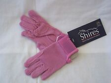 Childrens Horse Riding Gloves Pink - Large (approx 11 - 12) by Shires