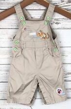 Disney Tigger 3-6 Mon  Baby Infant Khaki Jumper Button Snap Overalls r