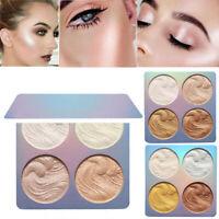 4 Colors Bronzer Highlighter Powder Palette Professional Makeup Face Powder Gift