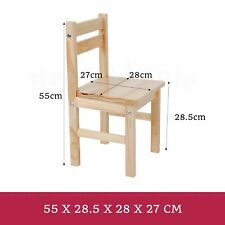 Nu Elwood Kids Wooden 2 Chairs Set Natural