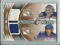 2011-12 SPx Winning Combo Dual Jersey Lundqvist / Staal - New York Rangers