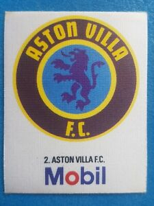 Mobil Football Club Badges Silk 1983 Aston Villa