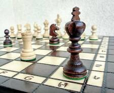 Schach edles Olympisches Schachspiel aus Holz Schachbrett Handarbeit 35x35 cm