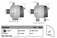DENSO ALTERNATOR FOR A FIAT BRAVO HATCHBACK 1.9 48KW