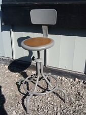 "Lot Of 6 Vintage Industrial Adjustable 22"" To 29"" Stools With Backs - Very Nice"
