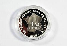 1 1/2 Euro Frankreich Campionne 1998 -Fifa WM 2006 - 900 Silber Münze /S6