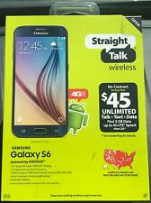 NEW Samsung Galaxy S6 32GB Black Smartphone Straight Talk Verizon 4G LTE Prepaid