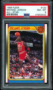 1988 Fleer All-Star Michael Jordan #120 PSA 8 NM-MT