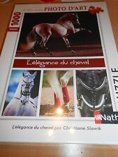 puzzle nathan 1000 pièces L ELEGANCE DU CHEVAL - sous blister