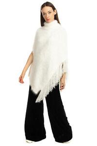RRP €770 FABIANA FILIPPI Fluffy Poncho Size 42 / M Angora Blend Made in Italy
