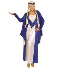 Fasching Mittelalter Larp Kleid Kostüm Burgdame RENAISSANCE KÖNIGIN blau Gr. L