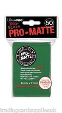 50 Ultra Pro Green Standard Pro-Matte Deck Protectors. Trading Card Sleeves.