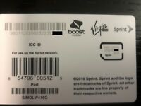 SPRINT / BOOST / VIRGIN MOBILE  Nano sim card for many BYOP ( see list in desc
