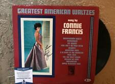 CONNIE FRANCIS GREATEST AMERICAN WALTZES  SIGNED VINYL LP RECORD  BECKETT C76600