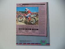 advertising Pubblicità 1985 MOTO FANTIC TRIAL 301 e THIERRY MICHAUD