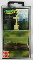 BNIB OO / HO BUSCH 1236 PARK BENCHES TREES AND STONE CROSS - GARDEN ACCESSORIES