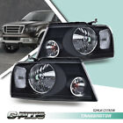 Fit For 2004-2008 Ford F150 06-08 Lincoln Mark LT Black Headlights Lamps LH+RH  for sale