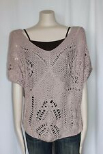 ANTHROPOLOGIE SWEATER SUMMER KNIT CROCHET SWEATER BY WILLOW AND CLAY NEW SZ
