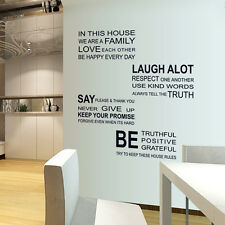 Removable Art Vinyl Quote DIY Bedroom Wall Sticker Decal Mural Home Room Decor