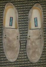 Vintage Tan Suede Hush Puppies Comfort Flex Loafers Men's Slip On Sz 10.5 P