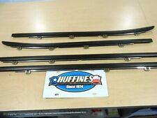 New OEM Full Set (4) Belt Window Moldings - 2014-2018 Silverado/Sierra Crew Cab