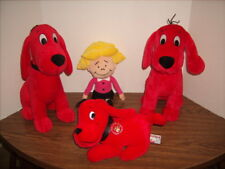 Clifford the BIG RED DOG and EMILY ELIZABETH Plush Lot of 4 -Excellent Shape