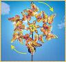 Autumn Butterflies Double SOLAR Lighted Garden Wind Spinner Stake Yard Art Decor