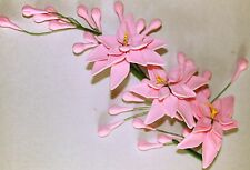 Tuberose PINK Sugar Flower Spray, Cake Topper, Sugar Paste, Sugarcraft