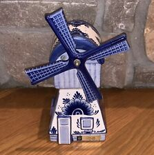 Mint Working Delft Blue Musical Windmill Plays Tulips From Amsterdam Music Box