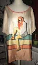 Damenblusen, - tops & -shirts aus Mischgewebe für die Freizeit Größe 48