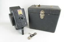 Vintage 1928 Devry QRS Model B 16mm Movie Camera With Case and key UNTESTED