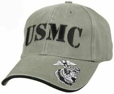 Low Profile Cap USMC Embroidered Olive Drab Deluxe Vintage 9738 Rothco f346a227428a