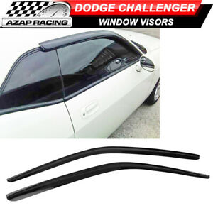Fits 08-16 Dodge Challenger Coupe Slim Style Acrylic Window Visors 2Pc Set