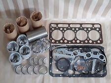 Kubota V1702 Engine Overhaul Kit / Liners, Pistons, Rings, Bearings, Gasket Set