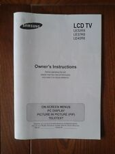 Samsung LCD TV LE32R8 37R8   and 40R8 operation instructions booklet