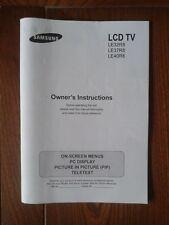 TV LCD SAMSUNG LE32R8 37R8 e 40R8 libretto istruzioni di funzionamento