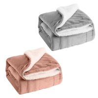 nEw SHERPA FLEECE THROW BLANKET - 50x60 Soft Plush Microfiber Bedding