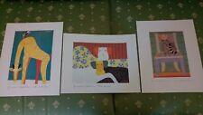 Laura Fiume 3 Stampe Litografiche Anni 90 Come Nuove