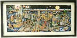 Charles Fazzino A Silhouette of Manhattan 3-D Serigraph Framed Pop Art Limited E
