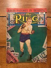 VINTAGE JUNE 1948 THE RING BOXING MAGAZINE JOE LOUIS-WALCOTT