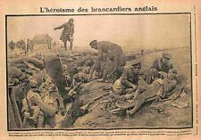 British Army Brancardiers Tommy Trench Bataille de la Somme Stretchers WWI 1915