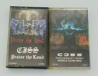 CJSS  Lot 2 Cassette Tapes David T. Chastain World Gone Mad and Praise the Loud