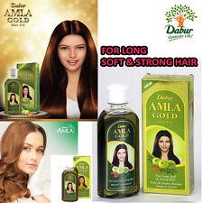 Dabur Amla Aceite de cabello de oro 200 ml para Cabello largo suave y fuerte