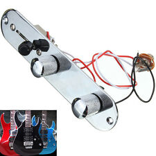 Chrome Prewired Control Plate 3-Way Switch For Fender Tele Telecaster Guitar