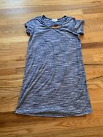Thyme and Honey Womens Pigment Dyed Blue Casual short sleeve Dress Size Medium