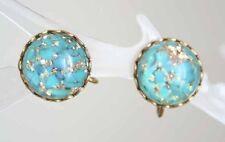 Elegant Mid Century Modern Confetti Lucite Earrings 1950s vintage