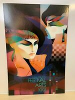 1991 Miami Beach Festival of the Arts | ART DECO Poster | Signed by Ned Moulton