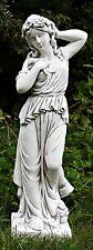 Frau mit Blumenkrone (A260) Gartenfigur Skulptur Statue Steinguss 96 cm 40 kg