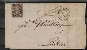 1859, SAXONY, FINE COVER, SEE!!